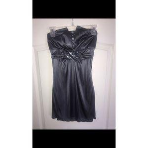 Embellished Gray Cocktail Dress